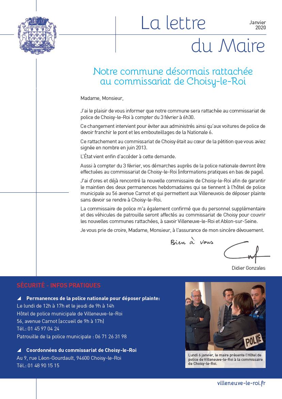 La lettre du Maire